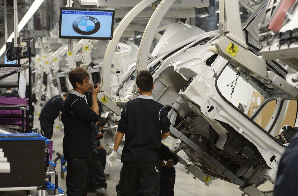 Ein Blick auf die Produtkion des BMW 3 in Shenyang-Tiexi in China (Archivbild). Foto: dpa