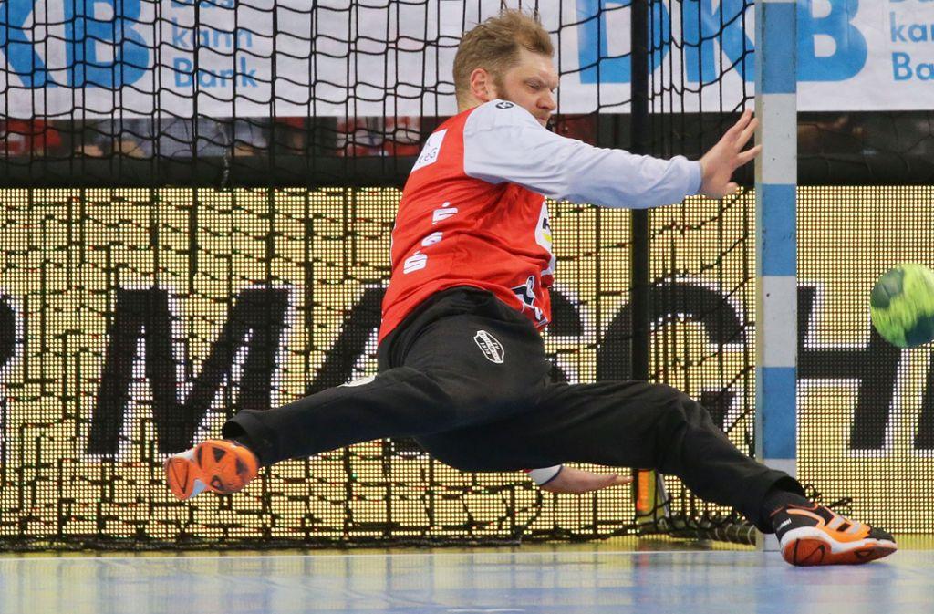 Johannes Bitter pariert fast 20 Bälle. Foto: Pressefoto Baumann