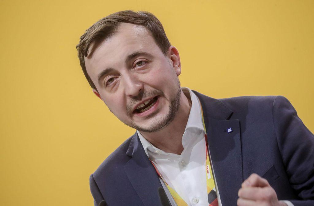 Paul Ziemiak äußerte sich am Montag zu Nachverhandlungen des Koalitionsvertrags. Foto: dpa/Michael Kappeler