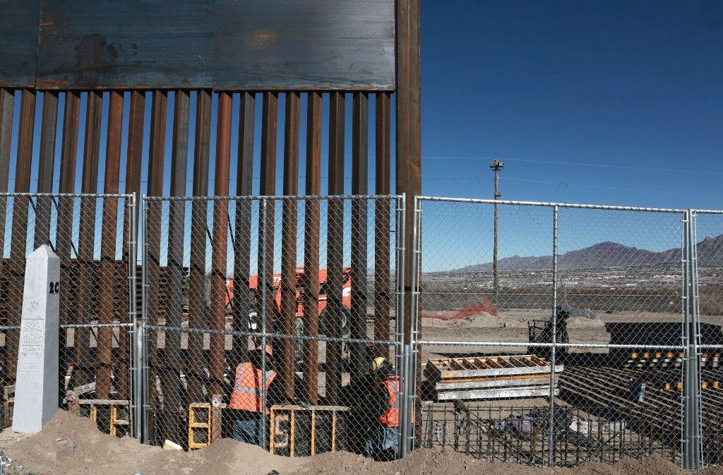 Ein Teil der bereits bestehenden Grenzanlage zwischen Mexiko und den USA. Foto: AP
