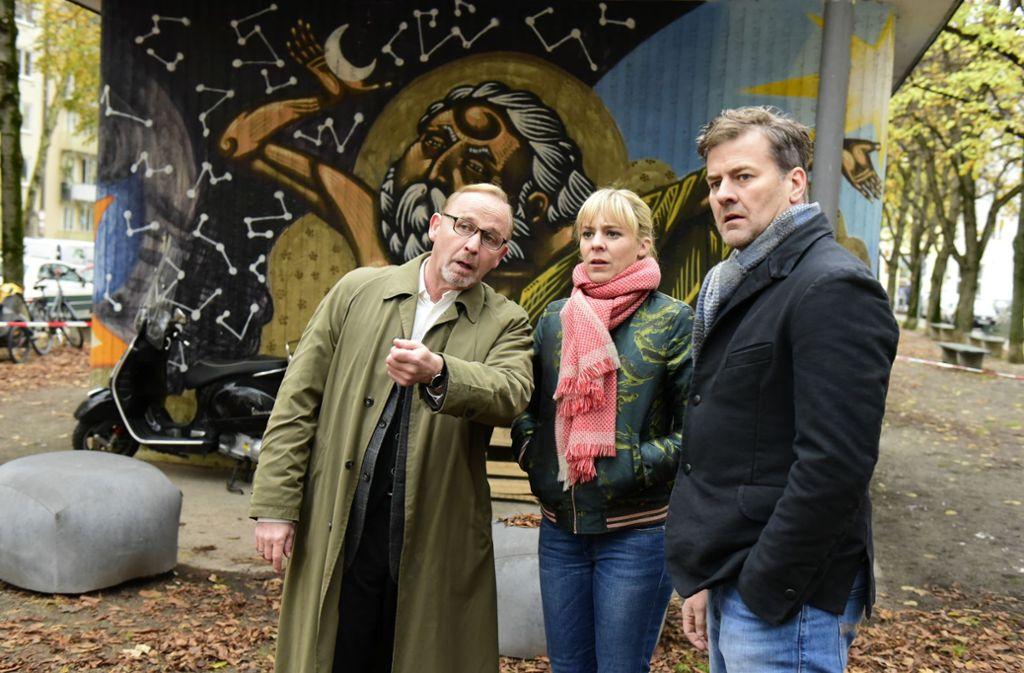 Das seltsamste  Trio  der Münchner Kriminalpolizei (von links: Alexander Held, Bernadette Heerwagen und Marcus Mittermeier) ermittelt wieder. Foto: ZDF