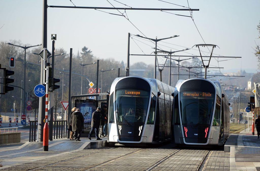 Mit der Tram kann man in Luxemburg ab 2020 kostenlos fahren. Foto: dpa