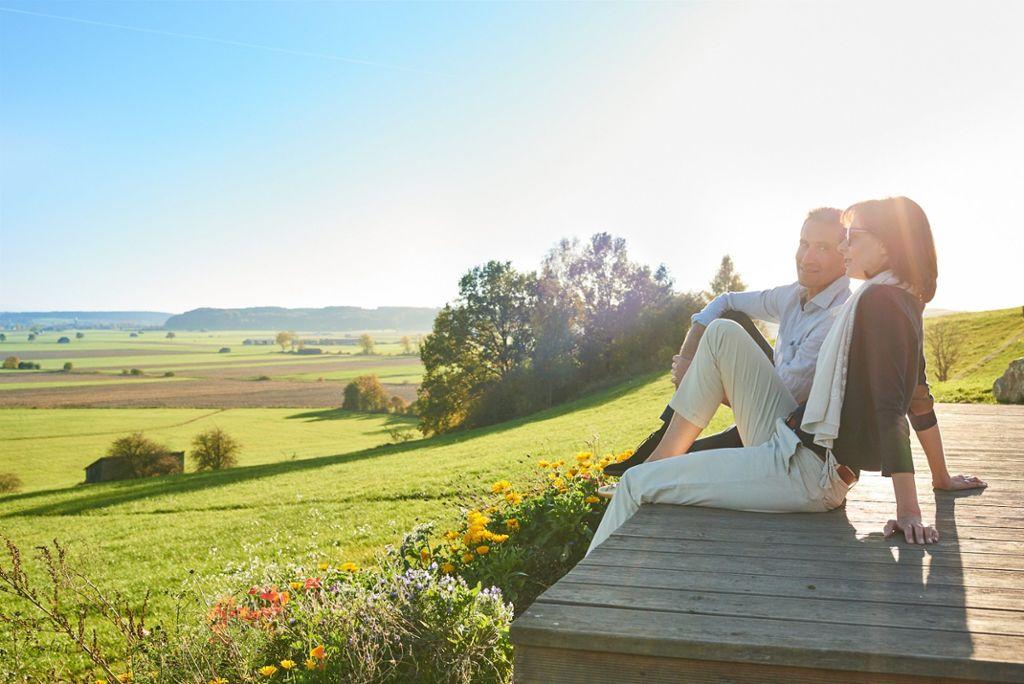 Das herrliche Panorama der Allgäuer Voralpenlandschaft mit sanften Hügeln  Foto: Kur- und Tourismusbetrieb Bad Wörishofen