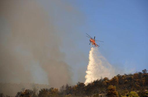 Waldbrand in der Nähe von Athen ausgebrochen