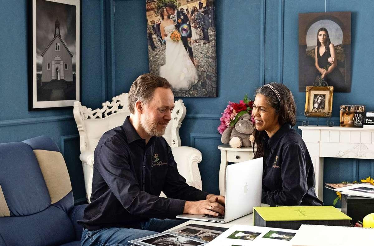 Nach Stationen in Melbourne, Japan und den USA haben Keith Wilson und Caroline Fredericks vor sechs Jahren ihr Foto-Studio in Vaihingen eröffnet. Foto: Sunflower Imaging