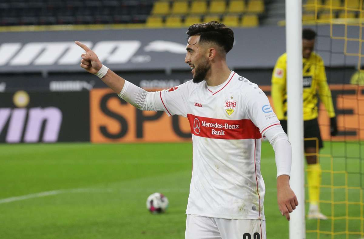 Nicolas Gonzalez erzielte in dieser Saison bisher vier Bundesliga-Tore für den VfB Stuttgart. Foto: Pressefoto Baumann/Hansjürgen / Britsch