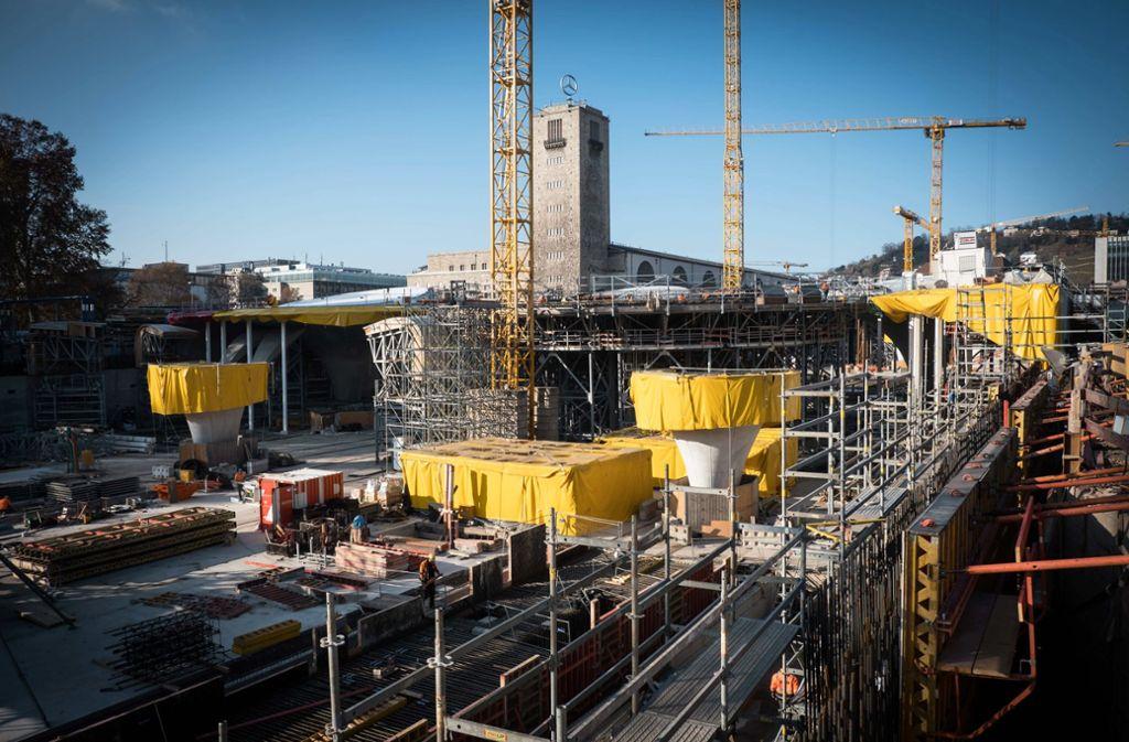 Vom kommenden Freitag an lädt der S-21-Verein zu den fünften Tagen der offenen Baustelle an den Bahnhof ein. Foto: Lichtgut/Achim Zweygarth