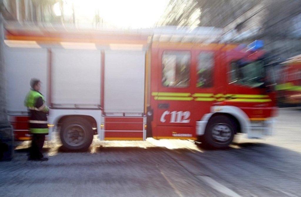 Mit einer Drehleiter hat die Feuerwehr zwei Menschen aus einem brennenden Haus gerettet. Foto: dpa