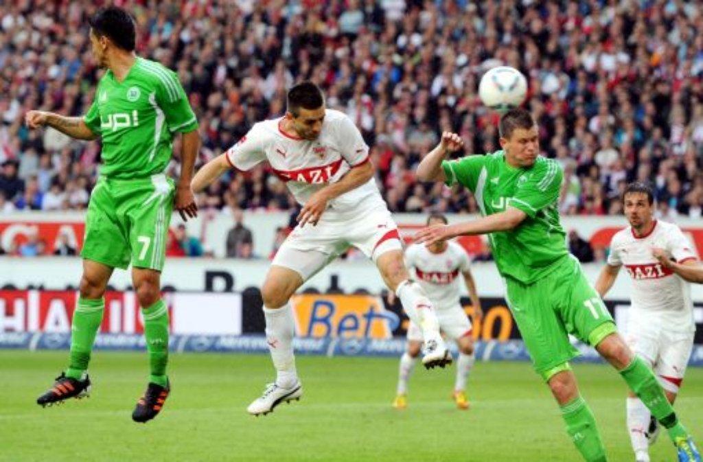 1. Spieltag (24.8-26.8.): VfB Stuttgart - VfL Wolfsburg Foto: dpa