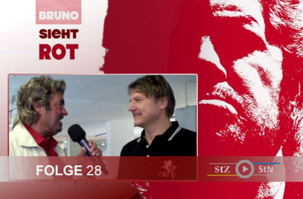 Hier ein paar Eindrücke von den Dreharbeiten zur 28. Folge von Bruno sieht rot mit dem VfB-Fanbeauftragten Peter Reichert bei der Jubiläumsausstellung Mythos VfB in Stuttgart-Mitte. Foto: SIR