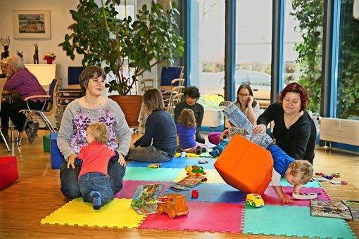 Mütter und Kinder aus aller Welt  kommen in der Parksiedlung zusammen. Foto: Horst Rudel