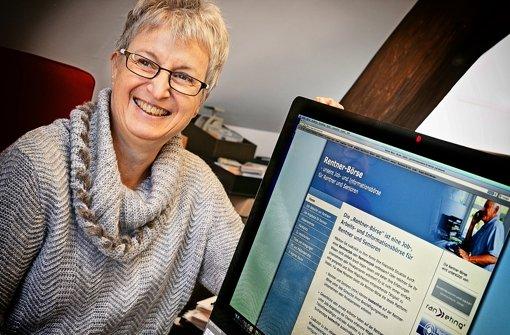 Silke Kiesgen hat die Rentner-Börse in ihrer Freizeit aufgebaut. Sie wolle nicht nur meckern, sondern auch was tun, sagt sie. Foto: Horst Rudel