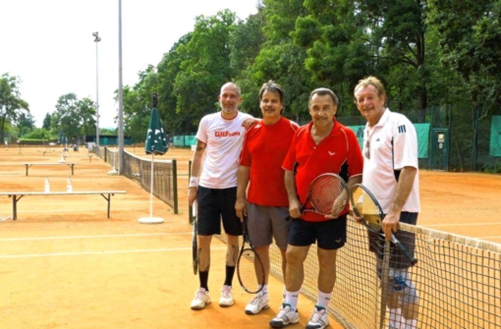 Die Blue Lobers sind ein eingespieltes Team. Seine sportliche Heimat hat der Tennisclub, der in  diesem Jahr sein 40-jähriges Bestehen feiert, in Sonneberg. Foto: Isabelle Müller