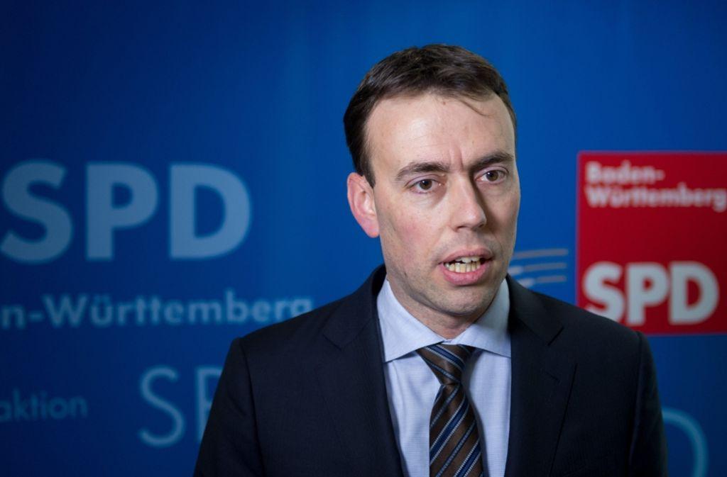 SPD-Landeschef Nils Schmid Foto: dpa