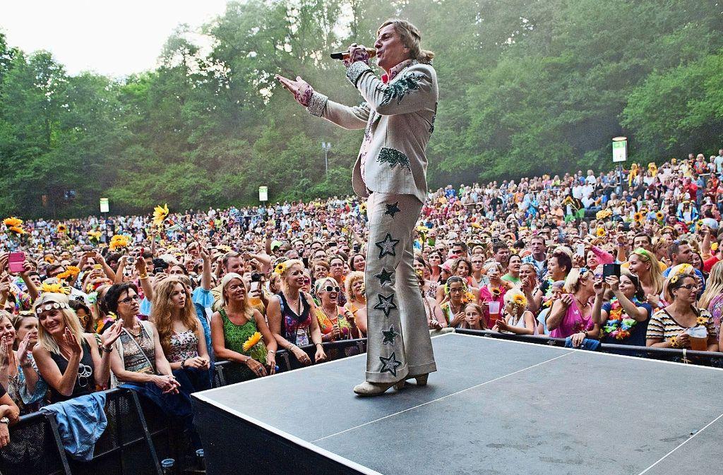 Schon in den vergangenen Jahren hat  Dieter Thomas Kuhn seine Fans auf dem Killesberg  begeistert. Foto: Lichtgut/Oliver Willikonsky