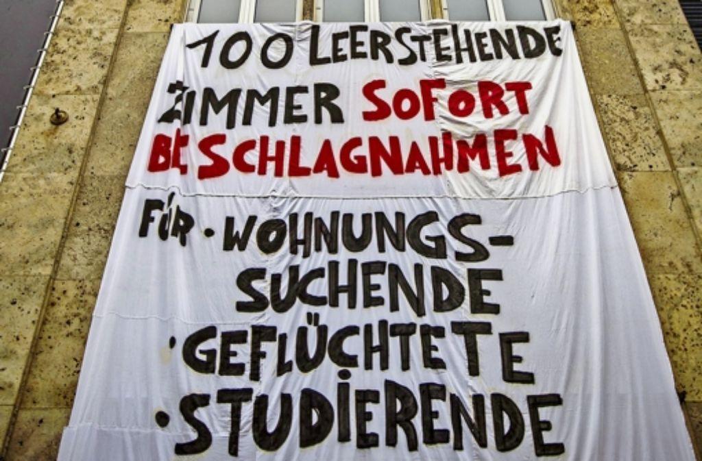 Protest gegen Zweckentfremdung in Stuttgart. Foto: Lichtgut/Leif Piechowski