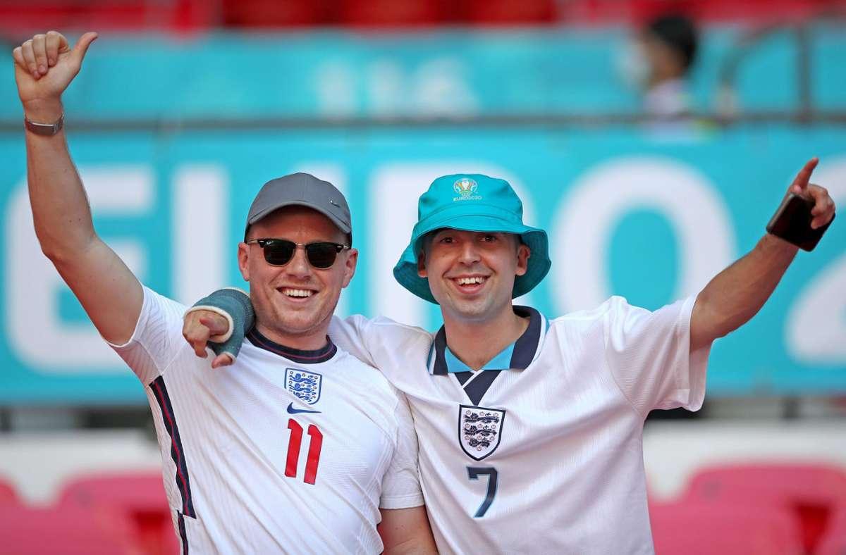 England will mit einem Sieg gegen den Rivalen Schottland das Achtelfinal-Ticket lösen. Foto: dpa/Nick Potts