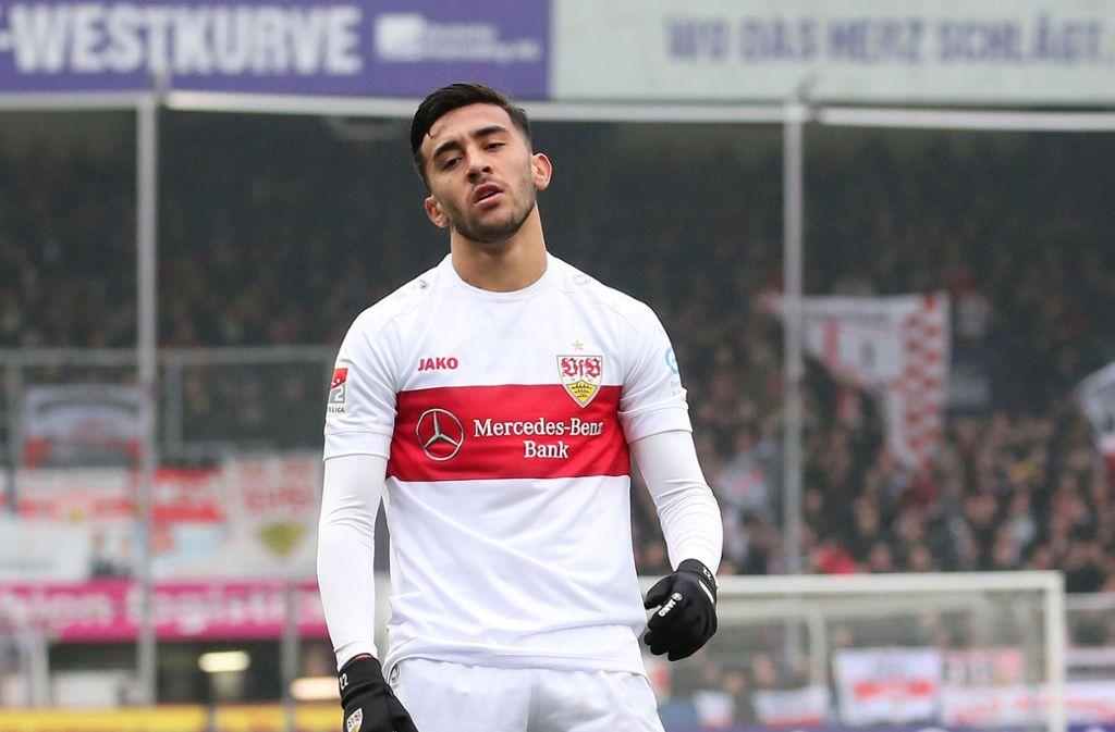 Nicolas Gonzalez ist enttäuscht – die Fans auch. Foto: Pressefoto Baumann/Julia Rahn