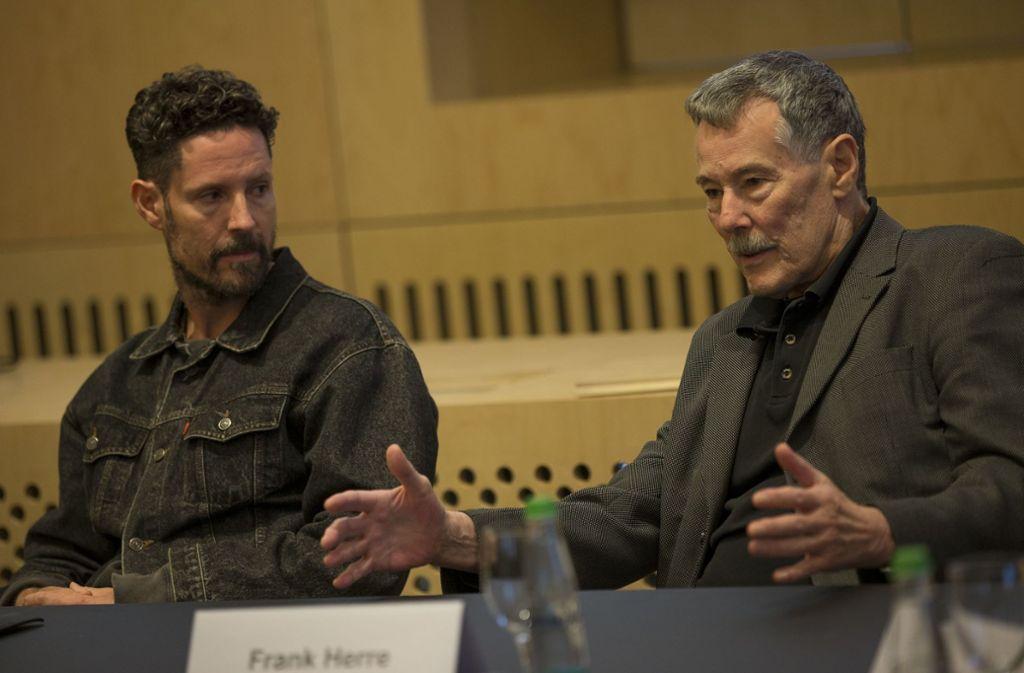 Max Herre (links) und sein Vater Frank Herre im Stadtpalais Foto: Lichtgut/Leif Piechowski