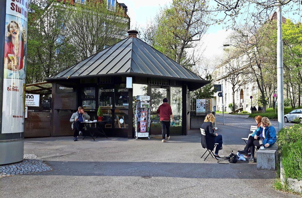 Der Platz am Kiosk-Café am Herdweg Ecke Azenbergstraße ist eins Verschönerungsprojekte auf der Step-Liste. Foto: Eva Funke