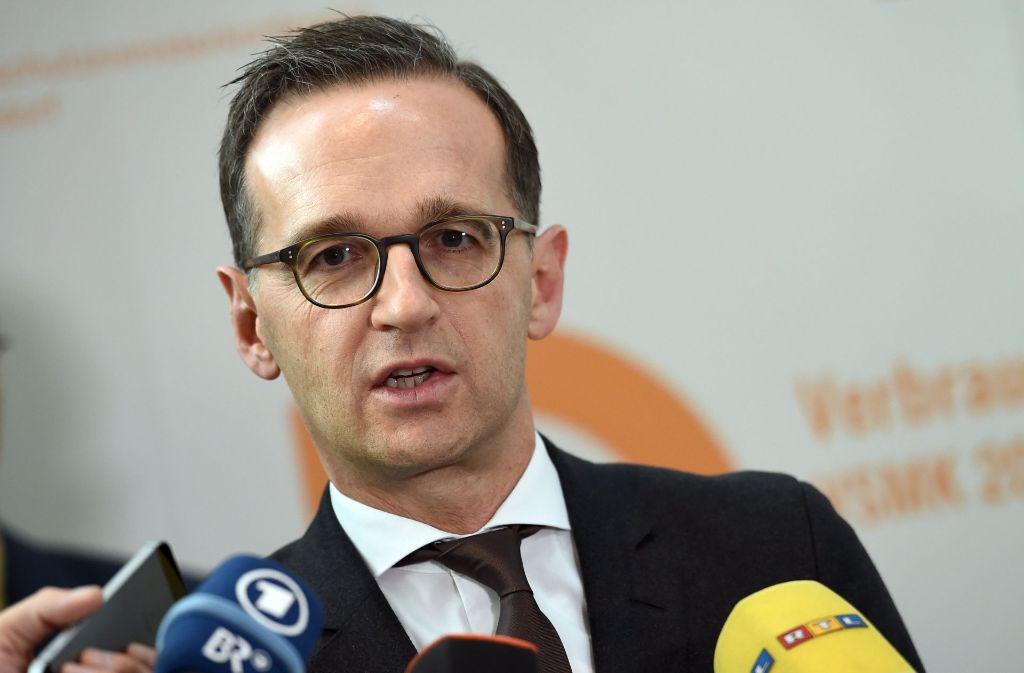 Der Bundesjusitzminister Heiko Maas. Foto: dpa-Zentralbild