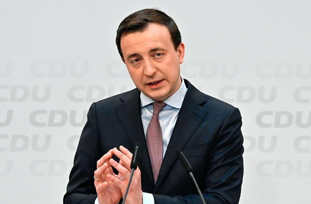 Abteilung Attacke ist das Feld des CDU-Generalsekretärs Paul Ziemiak. Foto: dpa