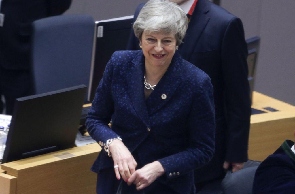 Die britische Premierministerin Theresa May hat einen Aufschub bis Ende Juni beantragt. Foto: AFP Pool