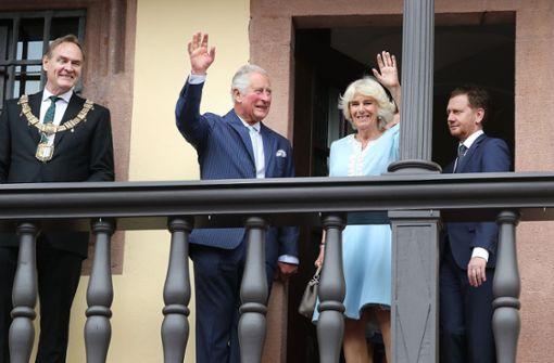 Begeisterter Empfang für Thronfolgerpaar in Leipzig