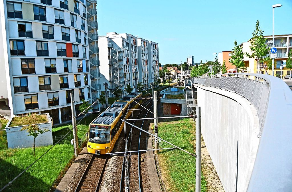 Zwischen Möhringen Bahnhof und Degerloch Albstraße fahren am Wochenende keine Bahnen. Foto: Stefanie Käfferlein