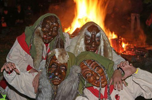 Die Nacht, in der  Hexen auf Besen  reiten