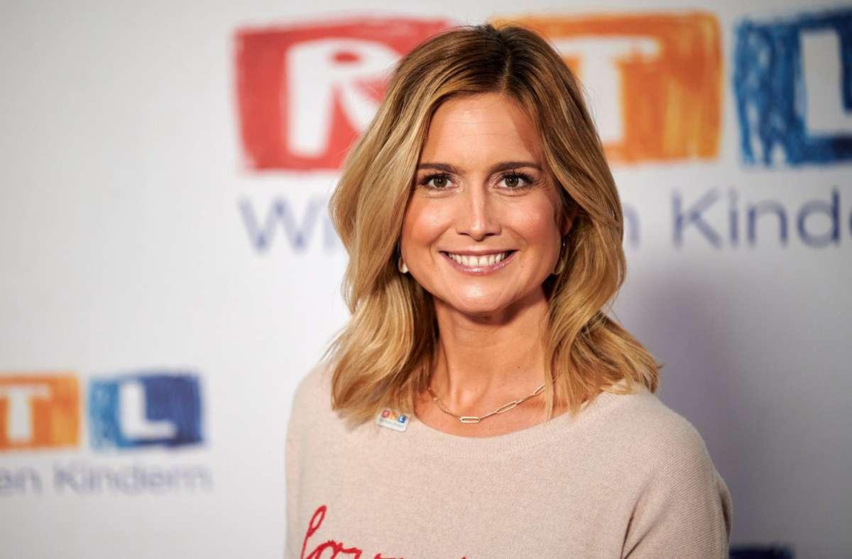 """Susanna Ohlen, die auch """"Guten Morgen Deutschland"""" moderiert, war im RTL-Programm als Frau vorgestellt worden, die bei den Aufräumarbeiten in Bad Münstereifel tatkräftig mit anpacke. Foto: dpa/Henning Kaiser"""