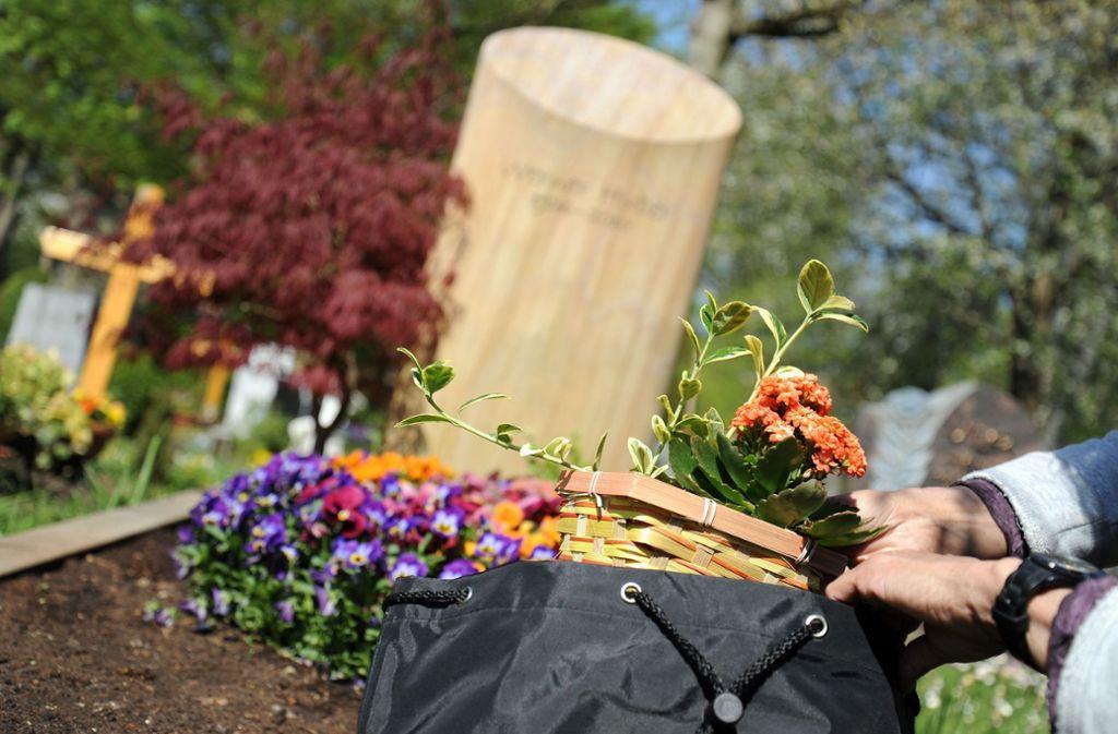 Bei den Dieben sind vor allem Blumensträuße beliebt. Foto: Archiv