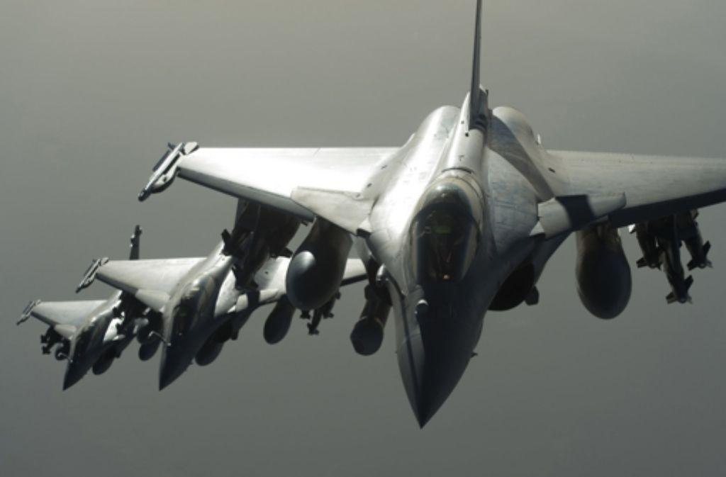 Die französische Luftwaffe bombardiert den IS in Syrien. Foto: ECPAD/AP