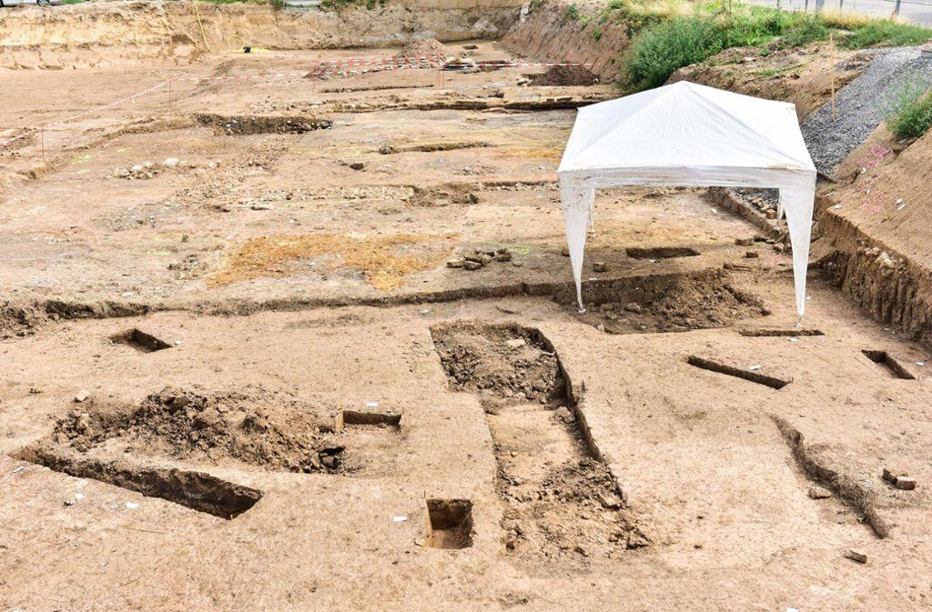 Die Ausgrabungsstelle in Bad Cannstatt Foto: