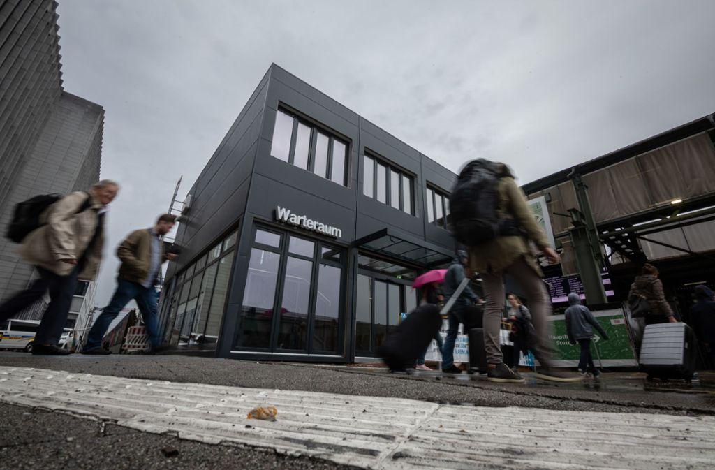Interimslösung am Hauptbahnhof. Foto: Lichtgut/Julian Rettig