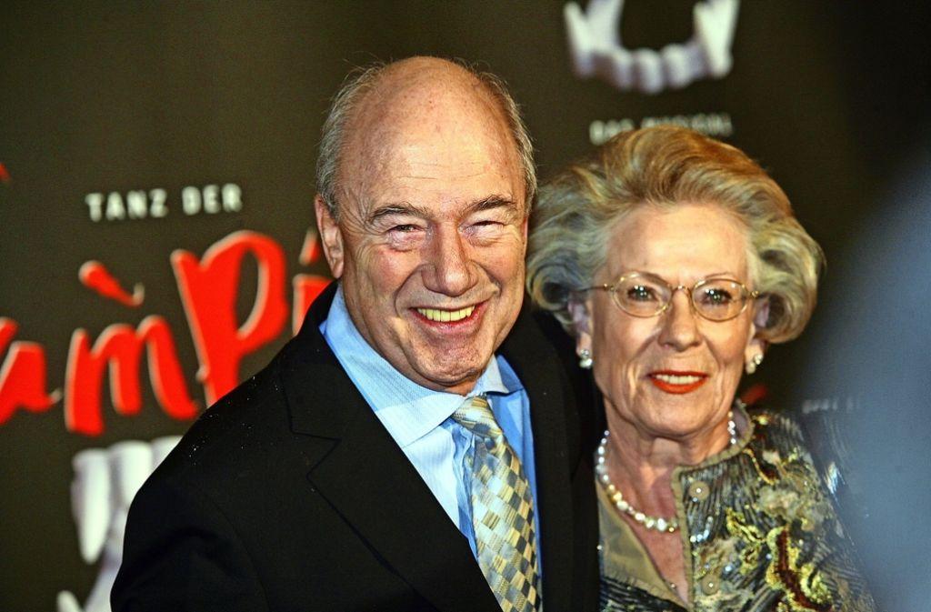 Ein Foto aus guten Zeiten: Der Schauspieler Dietz-Werner Steck mit seiner Frau Hanna im Jahr 2010. Foto: Achim Zweygarth