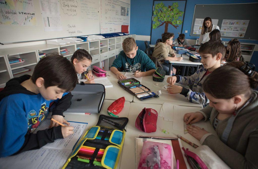 In der Schickhardt-Gemeinschaftsschule im Stuttgarter Süden lernen Kinder unterschiedlicher Bildungsstandards miteinander. Foto: Lichtgut/Max Kovalenko