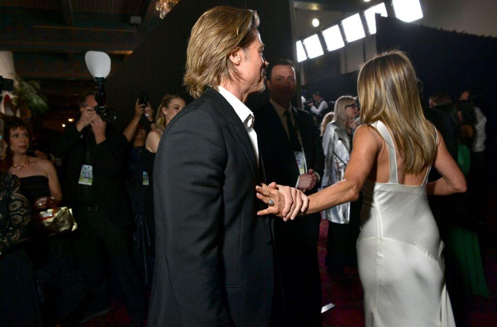 Die einstigen Eheleute gewannen bei der Gala am Sonntag in Los Angeles jeweils einen Preis. Foto: AFP/EMMA MCINTYRE