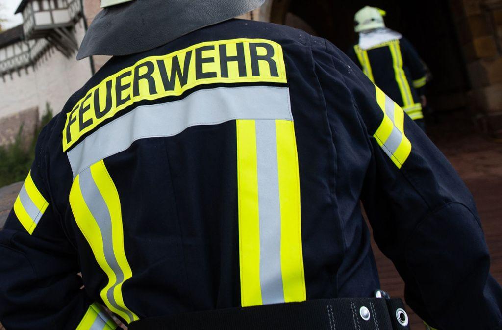 Eine Passantin verständigte die Feuerwehr. (Symbolfoto) Foto: dpa/Swen Pförtner
