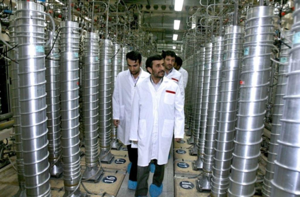 Das Ziel der Angriffe: die Uranzentrifugen in der iranischen Anlage Natanz Foto: dapd