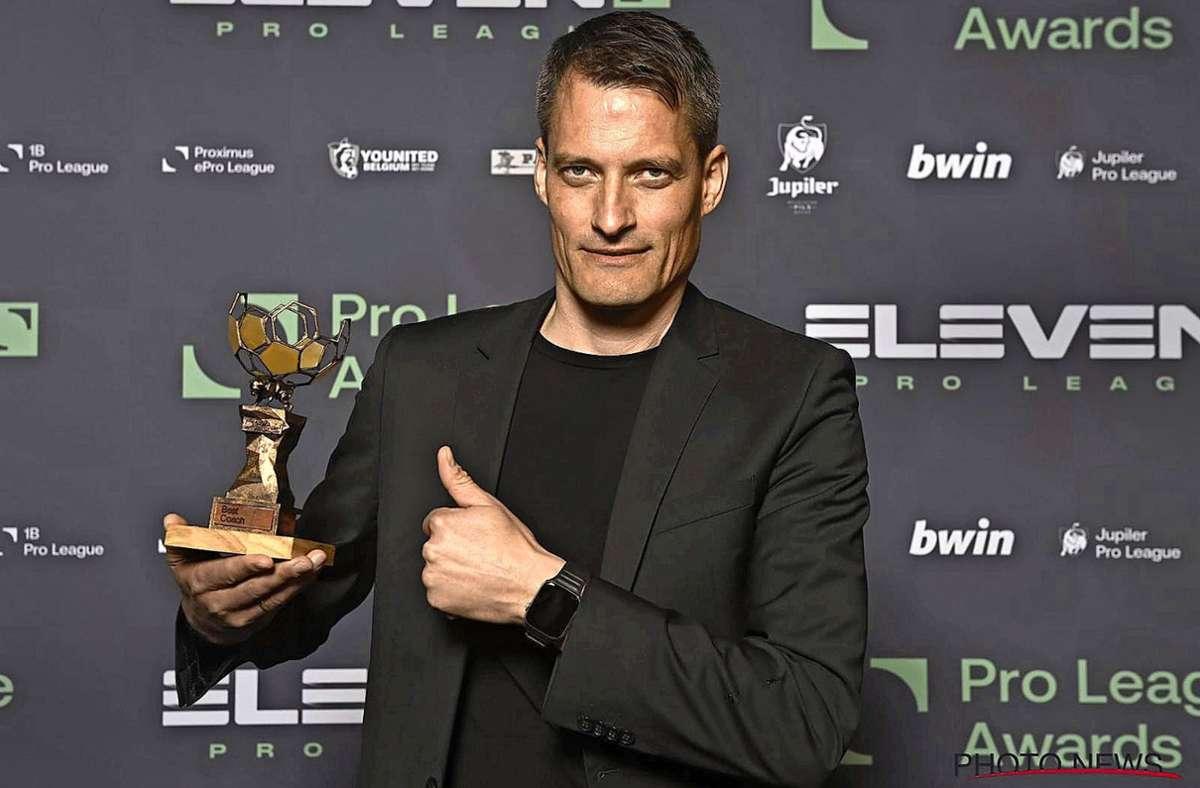 Alexander Blessin freute sich riesig über die Auszeichnung in einem Hotel in Brüssel. Foto: /red