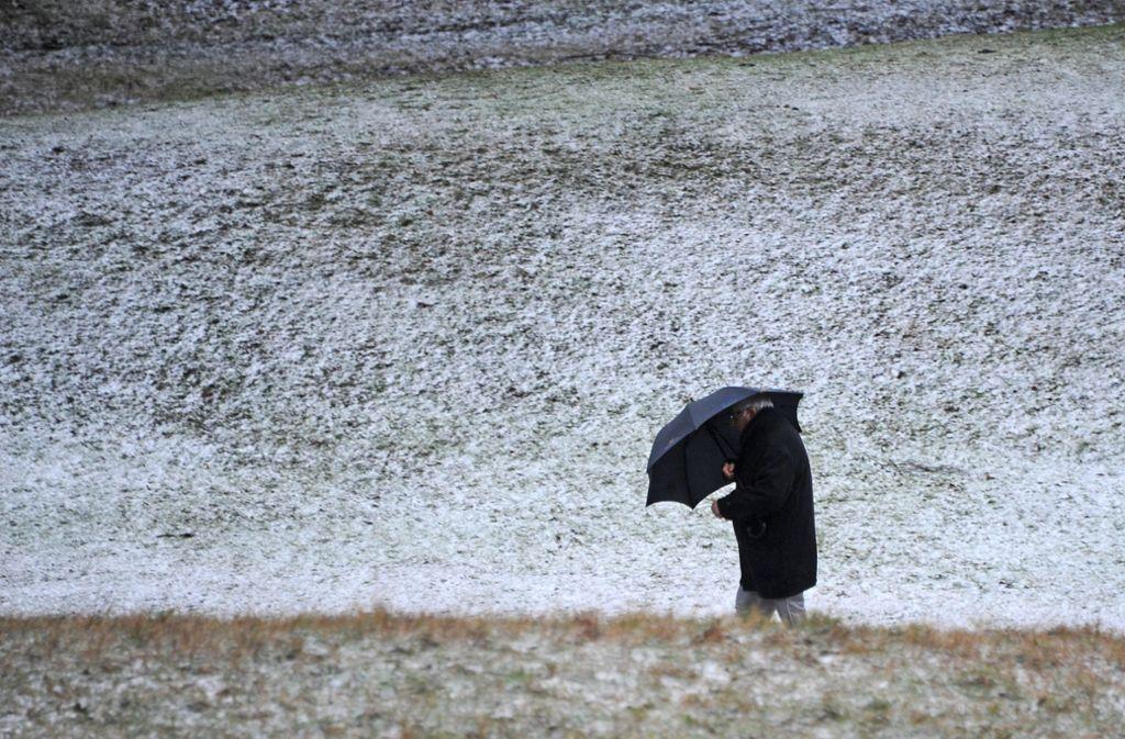 Der Donnerstag bringt Sturm und Schnee – selbst im Flachland. Foto: dpa/Lisa Forster