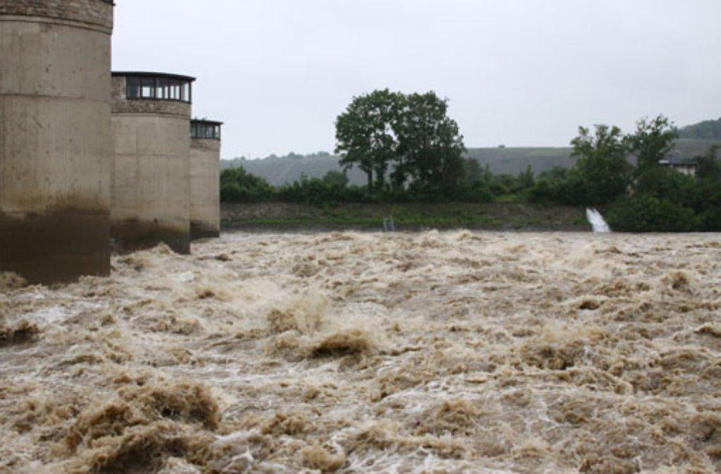 Auch der Landkreis Ludwigsburg wurde am Wochenende vom Hochwasser heimgesucht. Foto: Pascal Zepernick