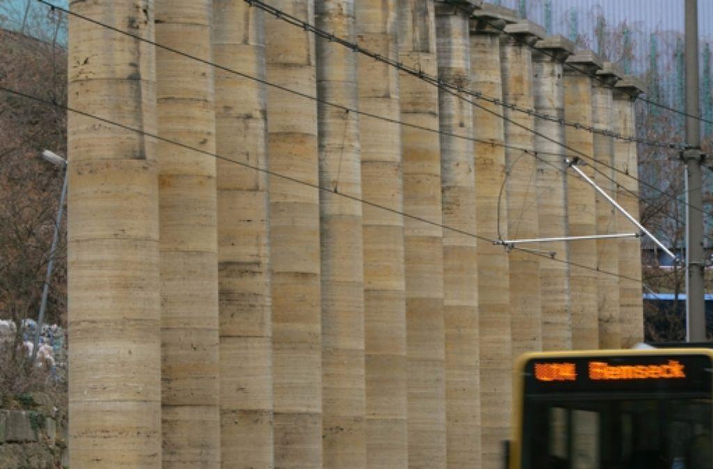 Diese Säulen hatten die Nazis bestellt. Foto: Achim Zweygarth
