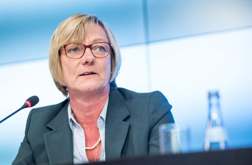 Edith Sitzmann, Finanzministerin von Baden-Württemberg, hat Sparvorschläge unterbreitet. Foto: dpa/Sebastian Gollnow