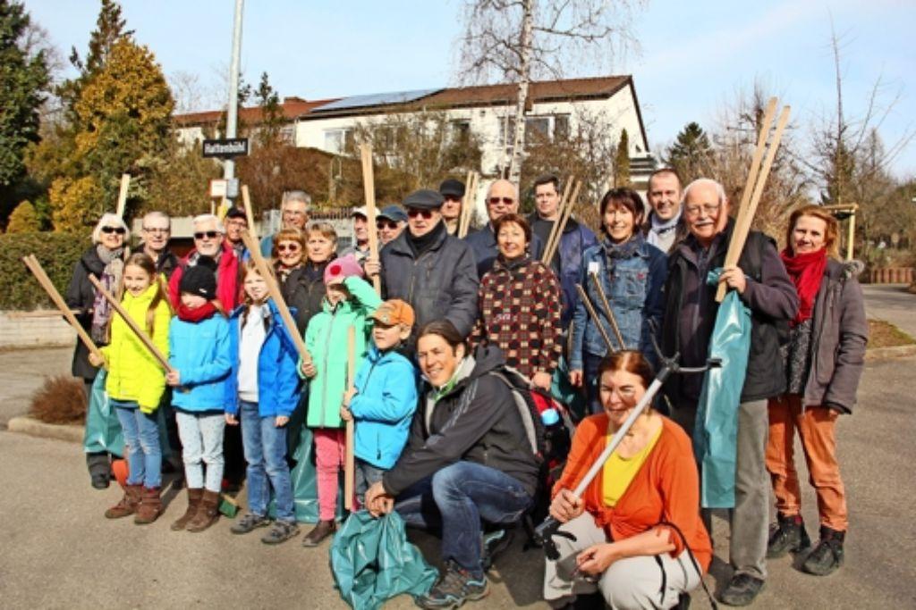 Der Bürgerverein und seine Mitglieder setzen sich seit mehr als 40 Jahren für den Stadtbezirk ein. Alle zwei Jahre wird auch im Wald aufgeräumt. Foto: Georg Friedel