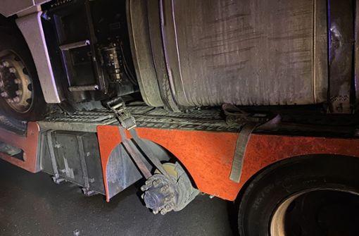 Pannen-Lkw mit massiven Mängeln sorgt für stundenlangen Einsatz