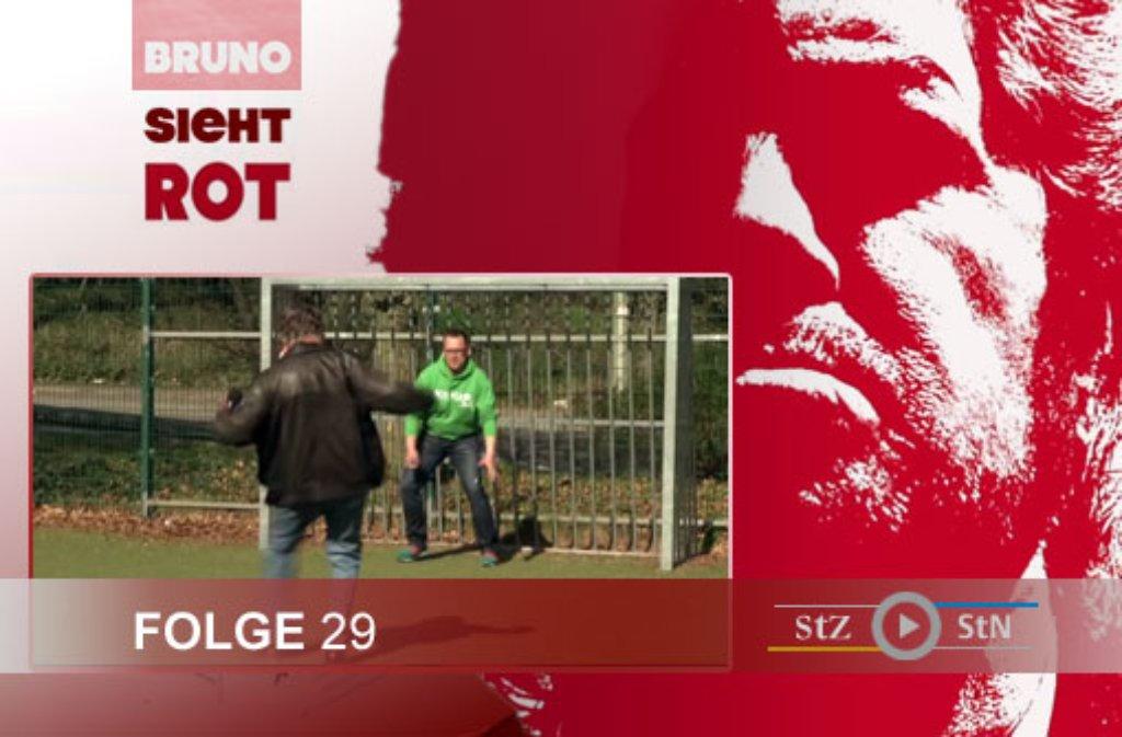 Hier ein paar Eindrücke von den Dreharbeiten zur 29. Folge von Bruno sieht rot mit Philipp Maisel (Kick-S) bei der SG Stuttgart-West. Foto: SIR