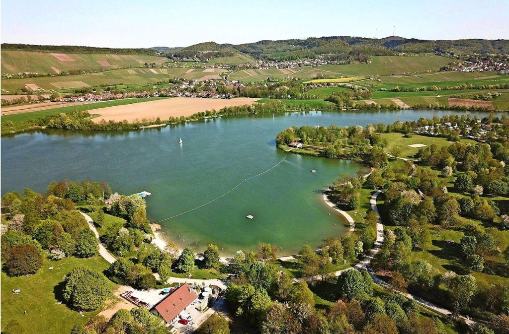 Der Breitenauer See ist  der mit knapp 40 Hektar der größte See in Nordwürttemberg. Foto: PR