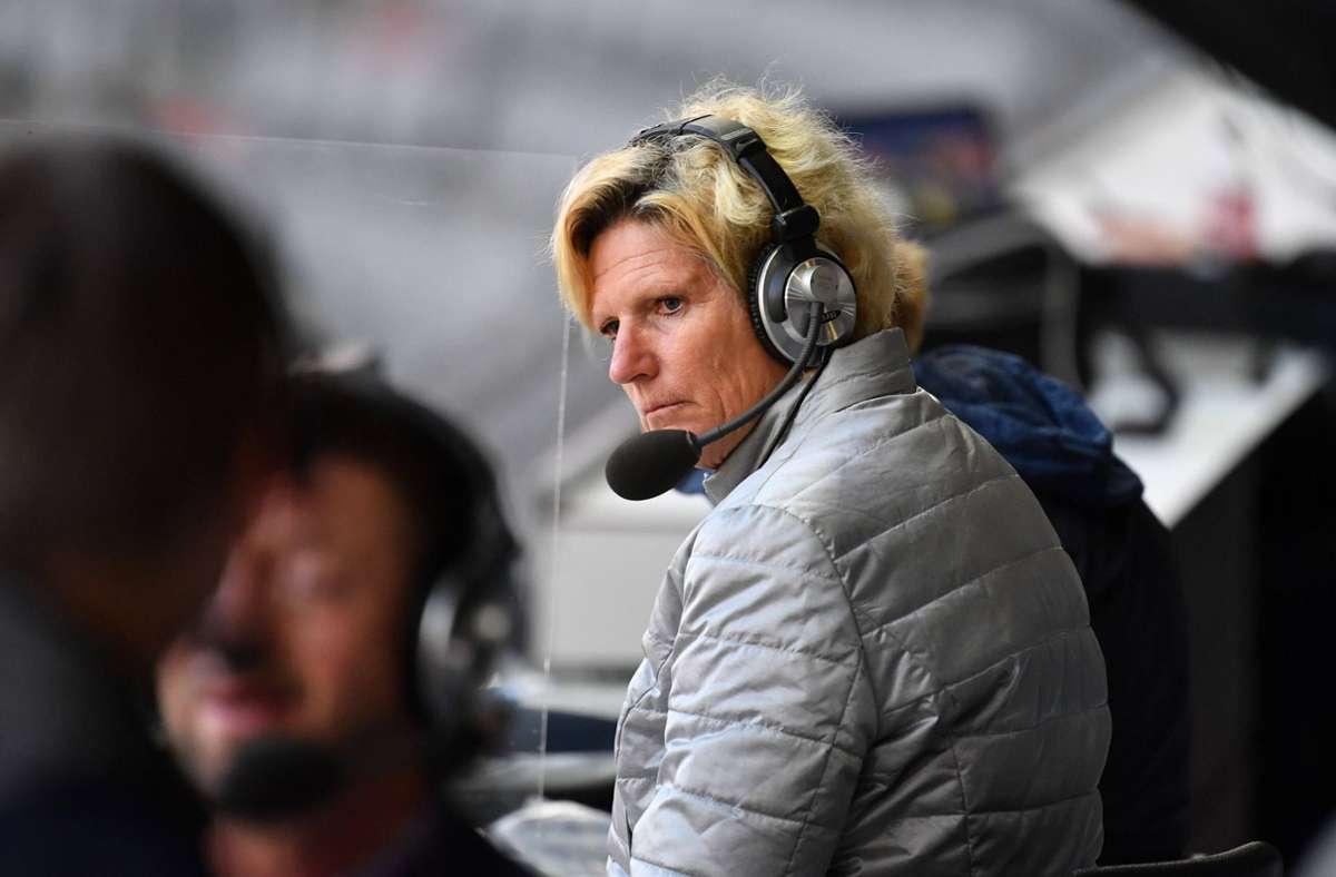 Claudia Neumann wird während der EM 2021 mitunter wüst beschimpft. Foto: imago images/Sven Simon